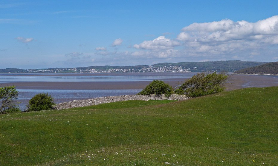 Cumbria. View of Grange over Sands from Arnside.