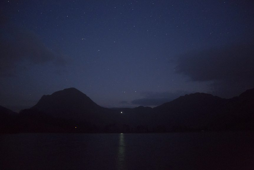 Dark sky over Buttermere